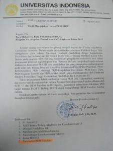 SK wajib PKM untuk maba